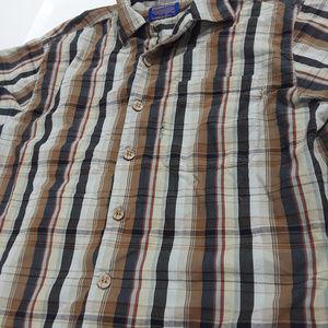 Pendleton plaid bamboo blend shirt brown multi